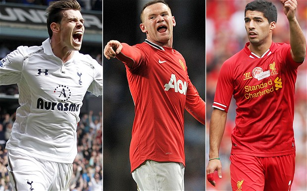 transfer, Premier League, Liverpoo, Suarez, MAN United, Rooney, Tottenham, Bale,