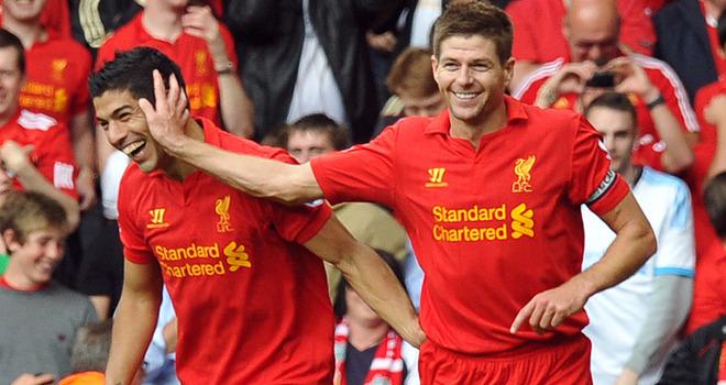 Liverpool, Suarez, Gerrard,