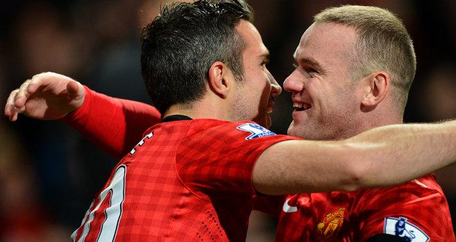Rooney, Persie, David de Gea,