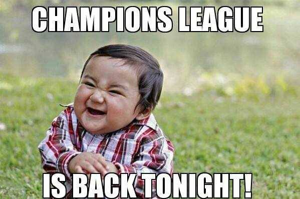 Image result for champions league is back tonight