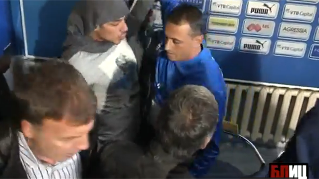Shocking Scenes as Bulgarian thugs take over Press conference