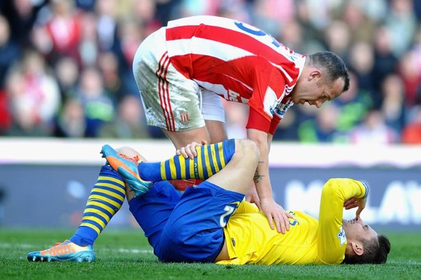 Charlie Adam could face FA action over incident with Arsenal's Olivier Giroud