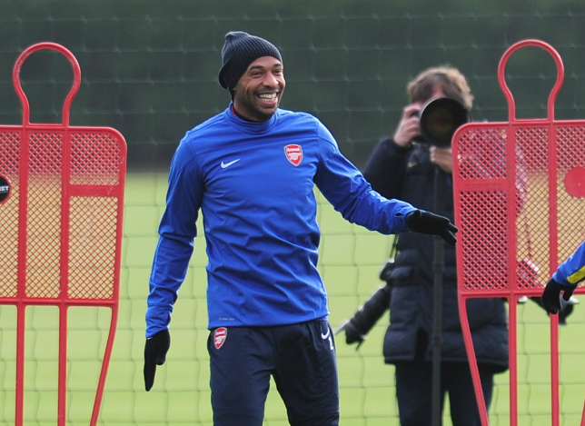 Arsenal legend returns to the club he hopes to manage one day