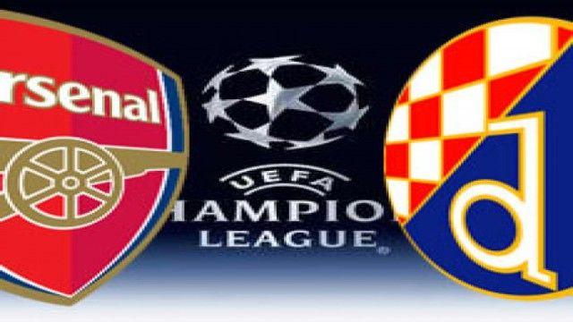 LINE-UP: Arsenal team to play Dynamo Zagreb