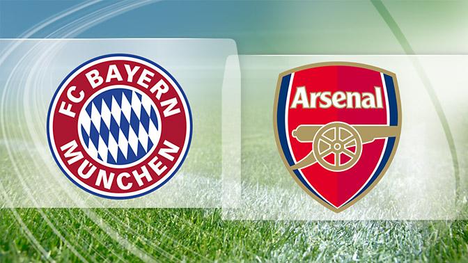 LINE-UP: Arsenal team to play Bayern Munich