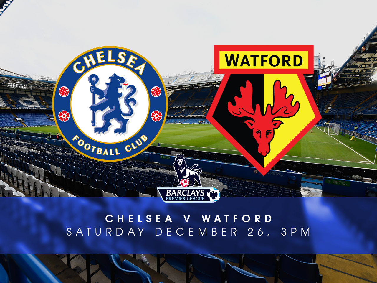 LINE-UP: Chelsea team to play Watford