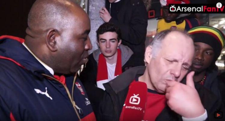 Arsenal Fan Declares Title Bid Over following Chelsea Loss (video)