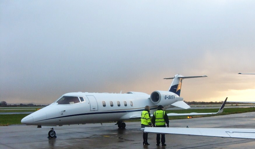Private Jets set to arrive in Manchester this afternoon