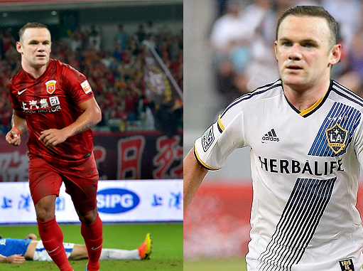 What Rooney could look like playing for Shanghai SIPG in the Chinese Super League or for LA Galaxy in the MLS