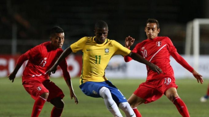 Brazilian Wonderkid, Vinicius Junior in action for Brazil's U17s.